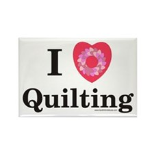 I Love Quilting Rectangle Magnet