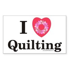 I Love Quilting Rectangle Decal