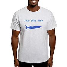 Distressed Blue Barracuda (Custom) T-Shirt