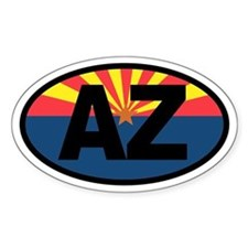 Arizona Flag Oval Decal