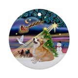 Xmas Magic - Corgi (P7B) Ornament (Round)