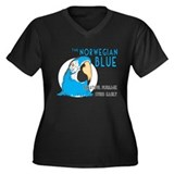 Norwegian Blue Women's Plus Size V-Neck Dark T-Shi