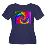 """Color 6"" Fractal Art Women's Plus Size Scoop Neck"