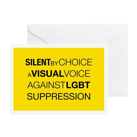 Silent By Choice Greeting Cards (Pk of 20)