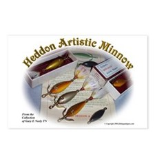 Heddon Artistic Minnow Postcards (Package of 8)