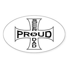 proud soccer dad Oval Decal