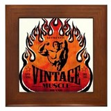 VINTAGE MUSCLE BRAND Framed Tile