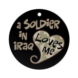 Iraq soldier camouflage Ornament (Round)