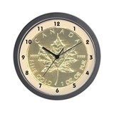 Maple Leaf Coin Wall Clock