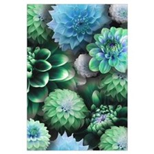 Blue Dahlias Collage