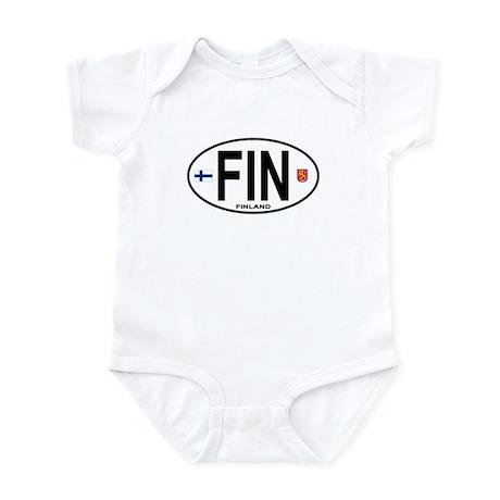 Finland Euro Oval Infant Bodysuit