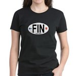 Finland Euro Oval Women's Dark T-Shirt
