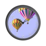 Hot Air Balloons in Flight Wall Clock