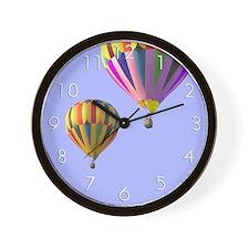 Hot Air Balloons in Flight Wall Clock