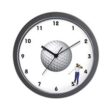 Golf Ball In Flight Wall Clock