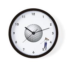 Golf Ball In Flight Wall Clock