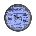 Buddhist Blue Prayer Flag Wall Clock
