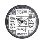 Buddhist White Wind Flag Wall Clock