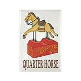 """QUARTER HORSE"" Rectangle Magnet"