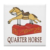 """QUARTER HORSE"" Tile Coaster"