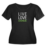 Live Love Dance Women's Plus Size Scoop Neck Dark