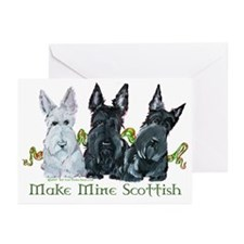 Scottish Terrier Trio Greeting Cards (Pk of 20)