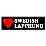 SWEDISH LAPPHUND Bumper Car Sticker