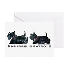 Scottie Squirrel Patrol Terri Greeting Card