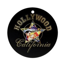 Hollywood California Ornament (Round)