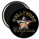 "Hollywood California 2.25"" Magnet (100 pack)"