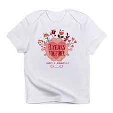 Personalized 3rd Anniversary Infant T-Shirt