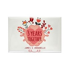 Personalized 3rd Anniv Rectangle Magnet (100 pack)
