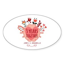 Personalized 3rd Anniversary Decal