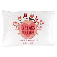 Personalized 3rd Anniversary Pillow Case