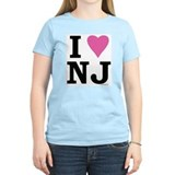 I LOVE NJ (Pink Heart) T-Shirt