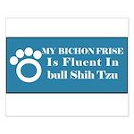 Bichon Small Poster