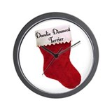 Dandie Stocking Wall Clock