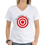 Hit Me! I Dare Ya! Women's V-Neck T-Shirt