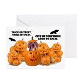 Trick Or Treat (Dachshund) Greeting Cards (Pk of 1