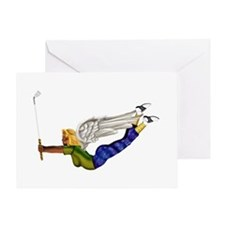 Lucky Golf Angel Greeting Card