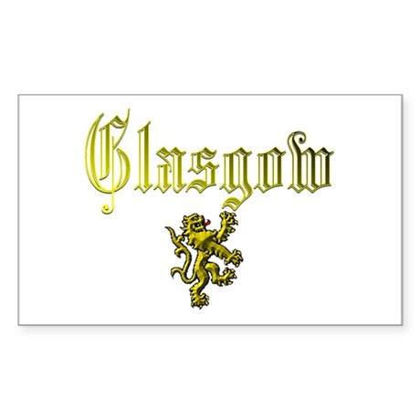 Glasgow. Rectangle Sticker