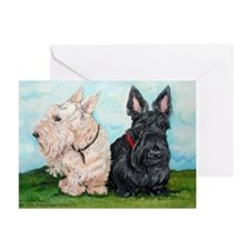 Scottish Terrier Companions Greeting Cards (Pk of