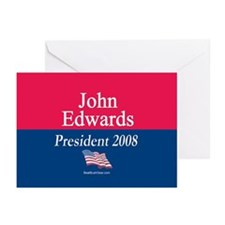 """John Edwards President"" Greeting Cards (10)"