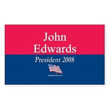 """John Edwards President"" Rectangle Decal"