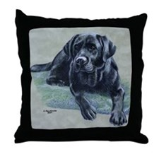 Classic Black Lab Throw Pillow