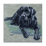 Classic Black Lab Tile Coaster