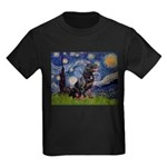 Starry/Rottweiler (#6) Kids Dark T-Shirt