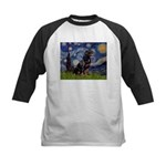 Starry/Rottweiler (#6) Kids Baseball Jersey
