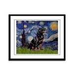 Starry/Rottweiler (#6) Framed Panel Print