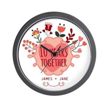 Personalized 10th Anniversary Wall Clock